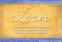 Name Lorn
