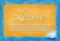 Name Lorne