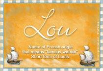 Name Lou