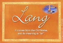 Name Lang