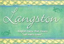 Name Langston