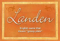 Name Landen