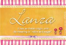 Name Lanza