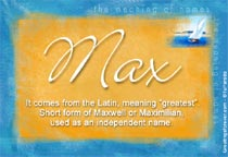 Max Name Meaning - Max name Origin, Name Max, Meaning of ...