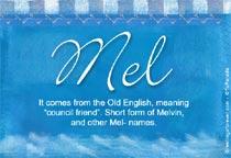 Name Mel