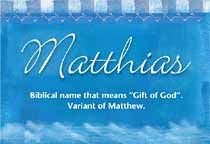 Name Matthias