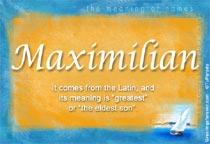 Name Maximilian