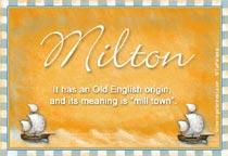 Name Milton