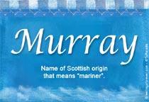 Name Murray