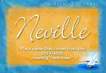 Name Neville