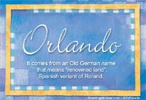 Name Orlando