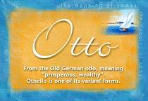 Name Otto
