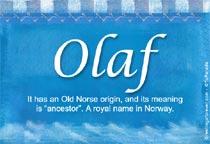 Name Olaf