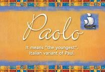 Name Paolo