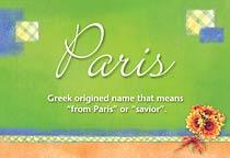 Name Paris