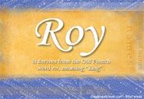 Name Roy