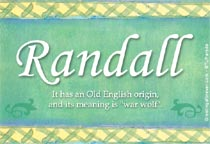 Name Randall