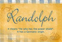Name Randolph