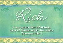 Name Rick