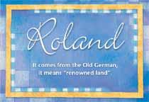Name Roland