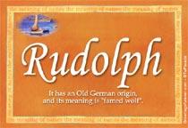 Name Rudolph