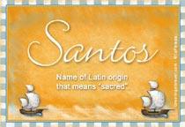 Name Santos