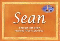 Name Sean