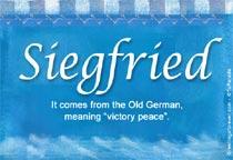 Name Siegfried