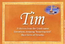 Name Tim