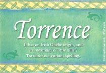 Name Torrence