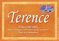 Name Terence