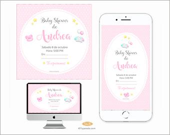 Invitación a Baby Shower rosa