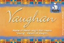Name Vaughan