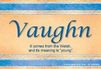Name Vaughn