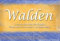 Name Walden