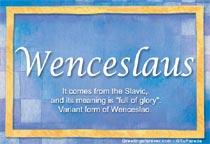 Name Wenceslaus