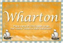 Name Wharton