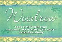 Name Woodrow