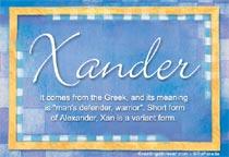 Name Xander