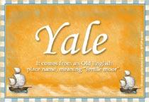 Name Yale