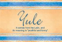 Name Yule