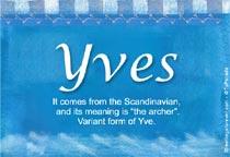 Name Yves