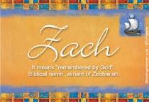 Name Zach