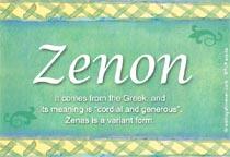 Name Zenon
