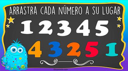 Juego: Números del 1 al 5