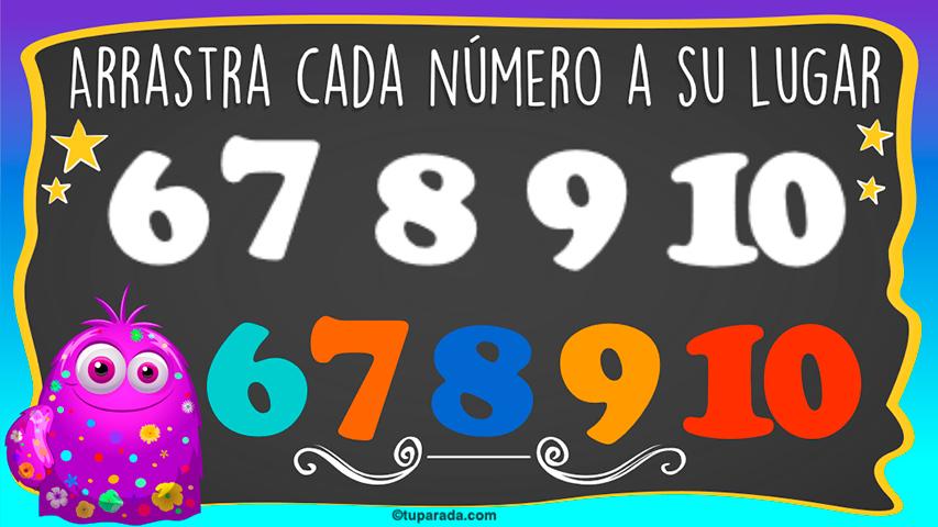 Juego: Números del 6 al 10