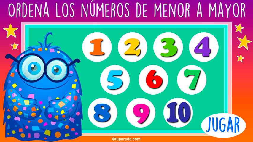 Ordena los números