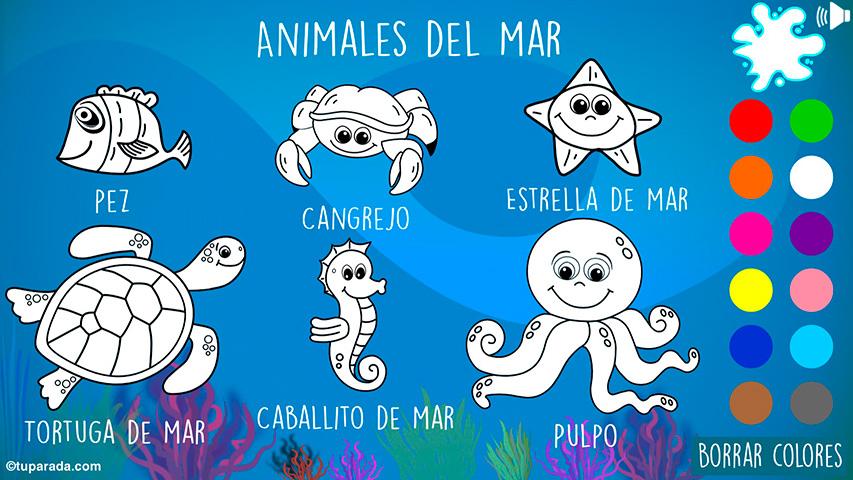 Animales del mar para pintar
