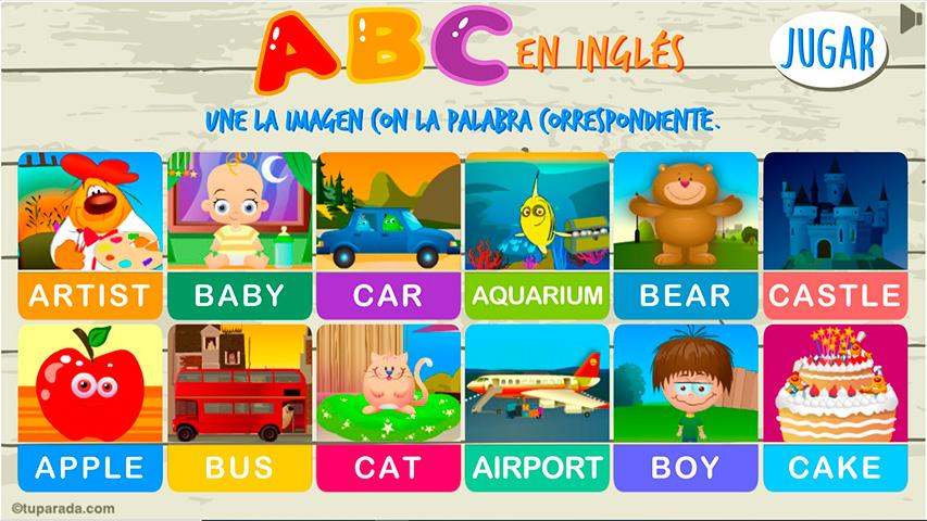 Juego ABC en inglés