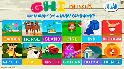 Juego GHI en inglés